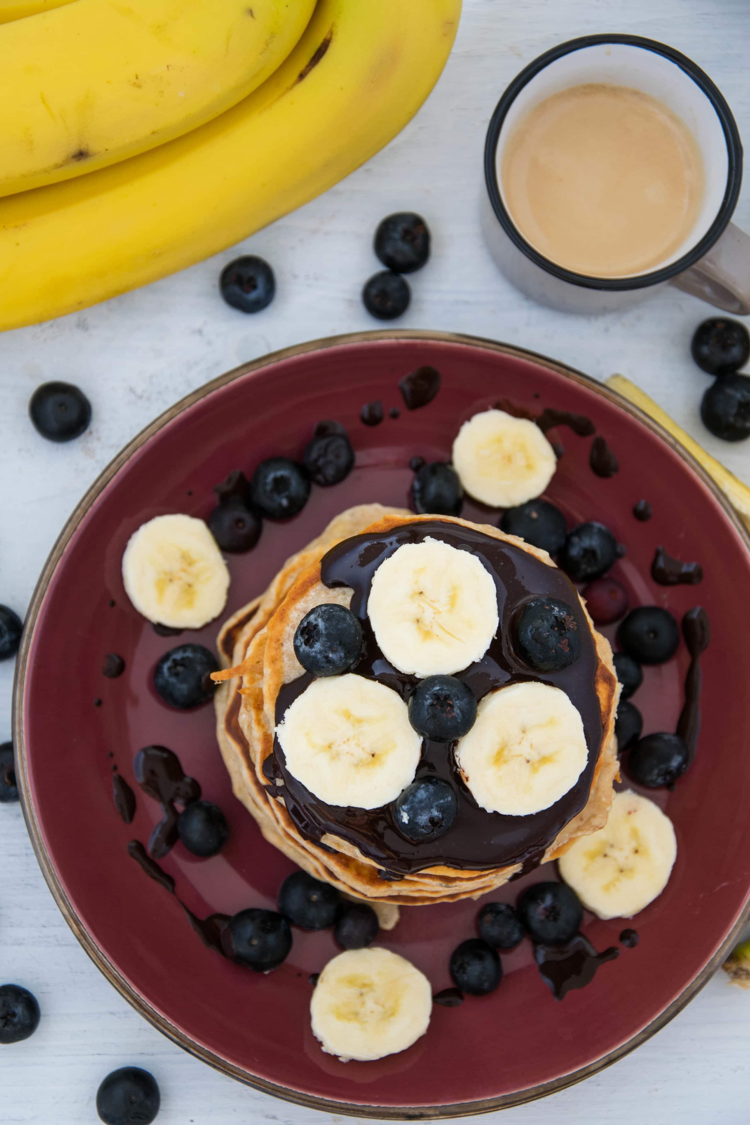 Bananen-Protein-Pancakes