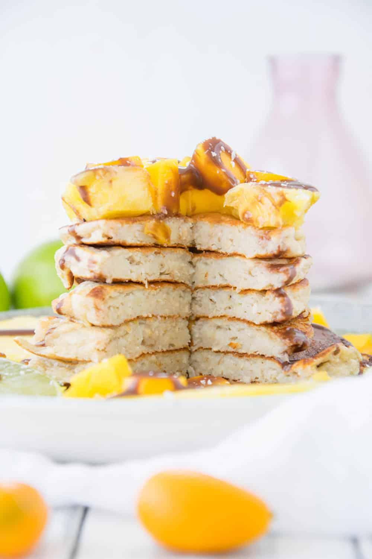Hafer Bananen Kokos Protein-Pancakes, pancakes, protein, fitnessfood, simple recipe