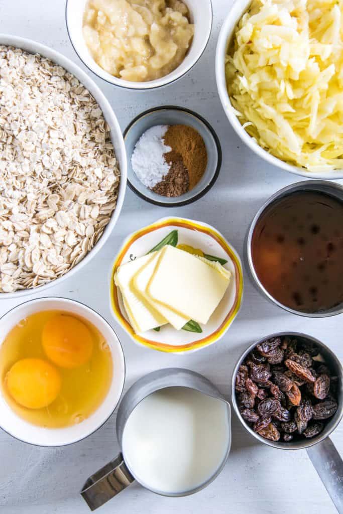 Zutaten für Baked Apfel Zimt Oatmeal