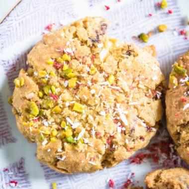 Erdbeer-Kokos-Cookies