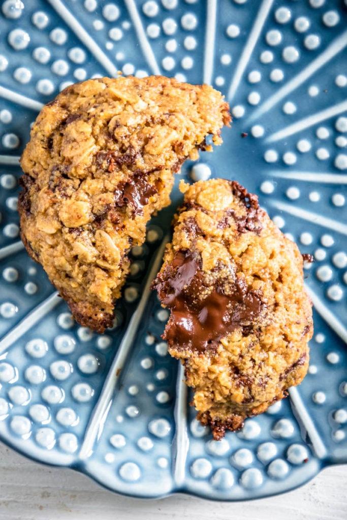 Hafer-Schoko-Kekse ohne raffinierten Zucker