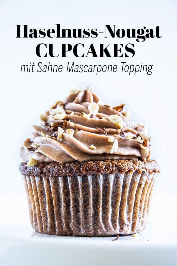 Haselnuss-Nougat-Cupcakes