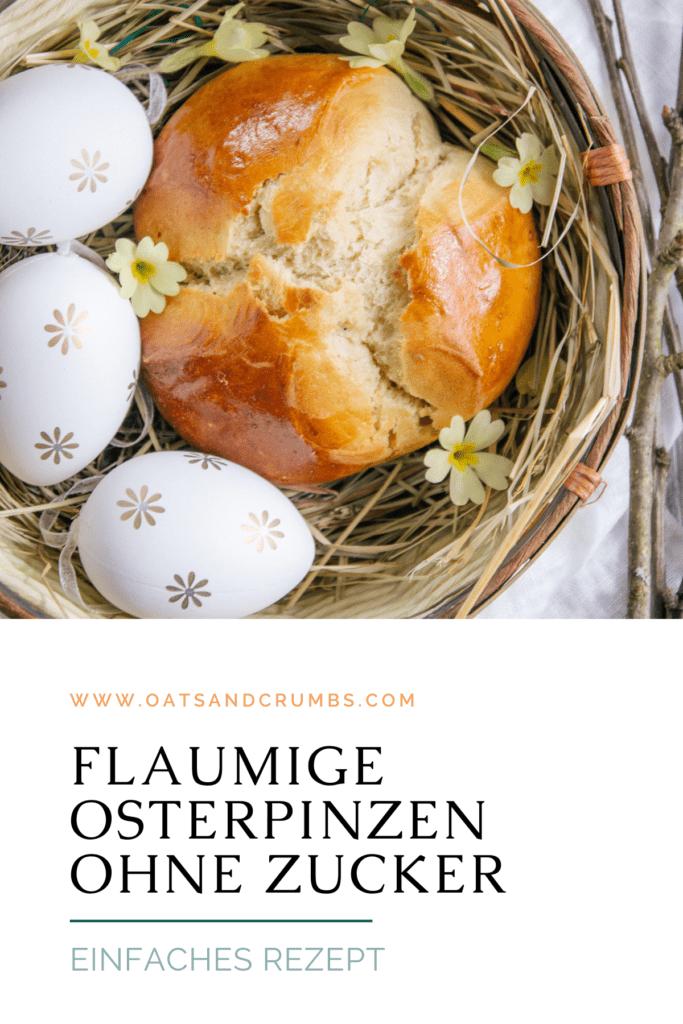 Pinterest-Grafik für Dinkel-Osterpinzen ohne Zucker