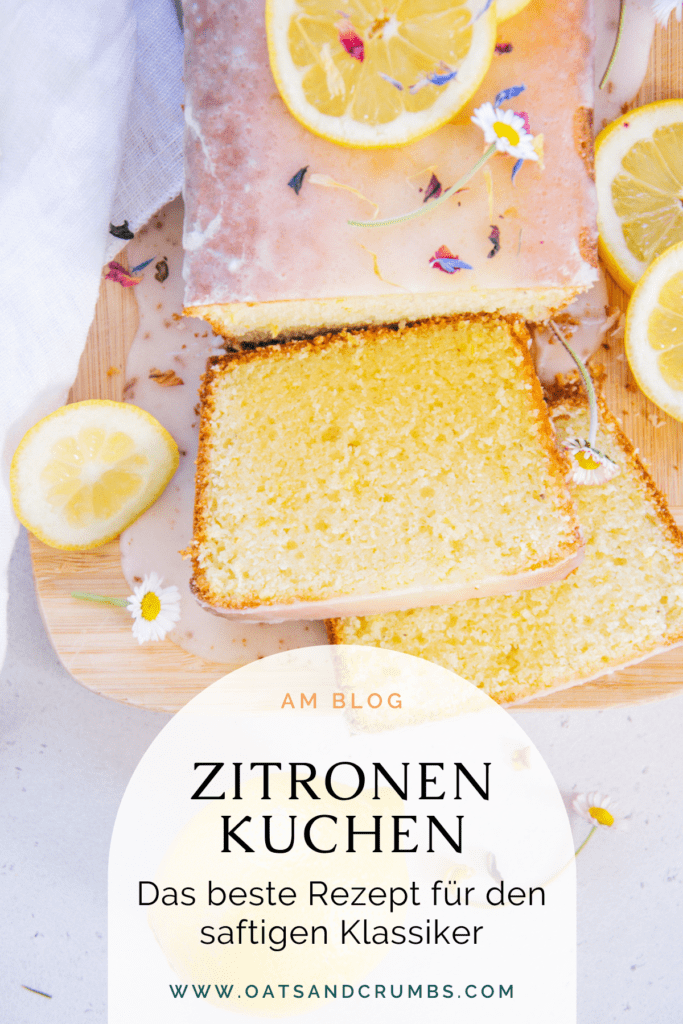 Pinterest-Grafik für den besten saftigen Zitronenkuchen
